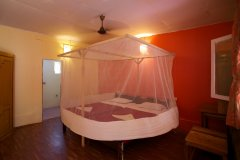 Palolem Beach Resort - Non AC Cottage Bedroom  of palolem beach resort on palolem beach,Goa -