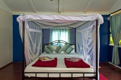 Cuba Patnem Beach Resort Deluxe AC Partial Sea View Beach Huts Bedroom