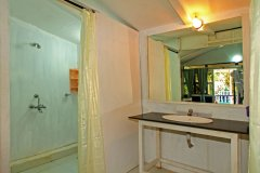 Cuba Patnem Beach Resort Deluxe AC Partial Sea View Beach Huts Bathroom -