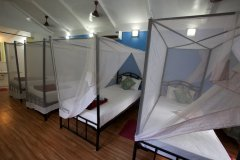Cuba Patnem Beach Resort Standard AC Family Hut Bedroom