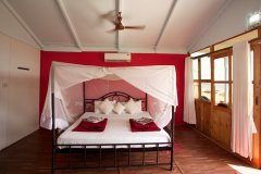 Cuba Patnem Beach Resort Deluxe AC Sea Facing Beach Hut Bedroom -