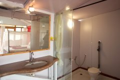 Cuba Patnem Beach Resort  Deluxe AC Sea Facing Beach Hut ensuite Bathroom