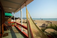 Cuba Patnem Beach Resort  Deluxe AC Sea Facing Beach Hut Balcony View