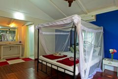 Cuba Patnem Beach Resort Deluxe AC Partial Sea View Beach Huts Bedroom -
