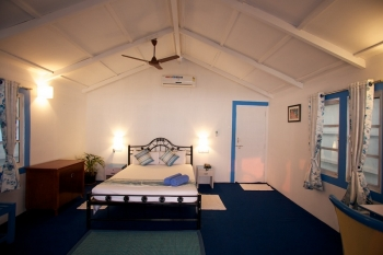 Cuba Agonda - Interior view of AC Sea Facing Beach hut of Cuba Agonda on Agonda Beach,Goa -