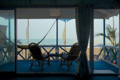 Cuba Agonda - View from the bedroom of AC sea facing hut of Cuba Agonda on Agonda Beach,Goa -