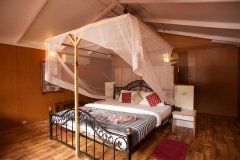 Cuba Palolem Premium Bungalows -Interior view of Non AC Sea View Hut of Cuba Palolem on Palolem beach,Goa -