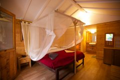 Cuba Palolem Premium Bungalows - View of the bedroom of Cuba Palolem on Palolem beach,Goa -