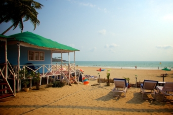 Cuba Palolem Standard Bungalows - View of Non AC Sea Front Bungalow of Cuba Palolem on Palolem beach,Goa -