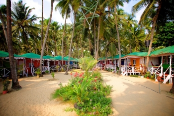 Cuba Palolem Standard Bungalows - View of Non AC Sea View Bungalow of Cuba Palolem on Palolem beach,Goa -