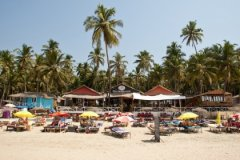 Cuba Palolem Beach Bungalows - Resort view from the beach of Cuba Palolem on Palolem beach,Goa -