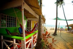 Cuba Palolem Standard Bungalows - Non AC Sea View Bungalow of Cuba Palolem on Palolem beach,Goa -
