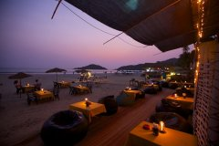 Cuba Palolem Beach Bungalows - View of Restaurant & Bar at Cuba Palolem on Palolem beach,Goa -