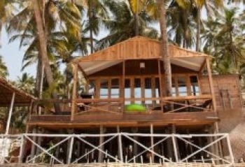 Cuba Palolem Premium Bungalows - view of AC Sea Front Hut of Cuba Palolem on palolem beach,Goa -