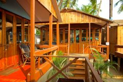 Cuba Palolem Premium Bungalows - View of AC Sea View Hut of Cuba Palolem on Palolem beach,Goa -