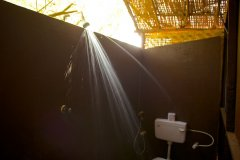 Hangout Agonda - Bathroom of Sea view hut of Hangout Agonda on Agonda Beach,Goa. -