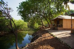 Hangout Agonda - River view huts of Hangout Agonda on Agonda Beach,Goa. -