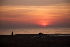 Hangout Agonda - Sunset View from the resort Hangout Agonda on Agonda Beach,Goa. -