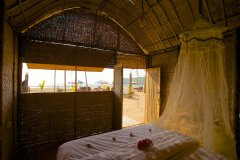 Hangout Agonda - View from the beachfront hut of Hangout Agonda on Agonda Beach,Goa. -
