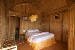 Hangout Agonda - Beachfront Hut bedroom of Hangout Agonda on Agonda Beach,Goa. -