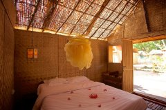 Hangout Agonda - Bedroom of sea view huts of Hangout Agonda on Agonda Beach,Goa. -