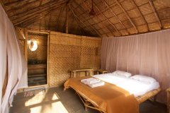 Tutti Garden Bungalows - Agonda Beach, Goa - Double Room Bedroom -