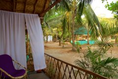 Tutti Garden Bungalows - Agonda Beach, Goa - Superior Room Balcony View -