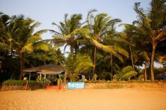 Home Patnem - View from the beach of Home Patnem on Patnem Beach,Goa -