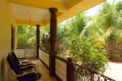 Barbara's Holiday Apartments, Palolem beach, Goa - One Bedroom Apartment Balcony