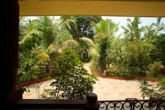 Barbara's Holiday Apartments, Palolem beach, Goa - One Bedroom Apartment Balcony View