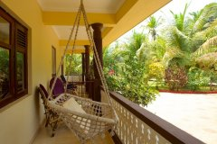 Barbara's Holiday Apartments, Palolem beach, Goa - Studio Apartment Balcony -