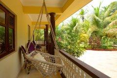 Barbara's Holiday Apartments, Palolem beach, Goa - Studio Apartment Balcony