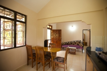 Barbara's Holiday Apartments, Palolem beach, Goa - Two Bedroom Apartment Dining Room, Living Room -
