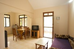 Barbara's Holiday Apartments, Palolem beach, Goa - Two Bedroom Apartment - Living Room, Dining Room