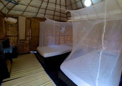 Bamboo Yoga Retreat Mountain View Bungalow Bedroom Patnem beach Goa.