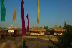 Bamboo Yoga Retreat Temple View Yoga Shala Patnem beach Goa.