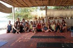 Bamboo Yoga Retreat Yoga Class Patnem beach Goa.