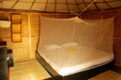 Bamboo Yoga Retreat Beach View Bungalow Bedroom Patnem beach Goa.