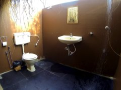 Bamboo Yoga Retreat Beach View Bungalow Bathroom Patnem beach Goa.