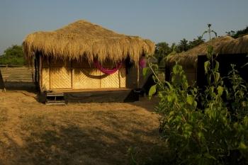 Bamboo Yoga Retreat Garden View Bungalow Patnem beach Goa.