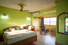 Green Inn Palolem Deluxe Double AC Rooms Bedroom -