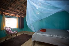 Hidden Gourmet Resort Patnem Beach  Beach Cottage Bedroom -