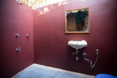 Hidden Gourmet Resort Patnem Beach  Wooden Bungalows Bathroom -