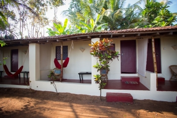Hidden Gourmet Resort Patnem Beach  Double Room