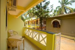 Filcon Goa Holiday Homes AC and Non Rooms Balcony View -