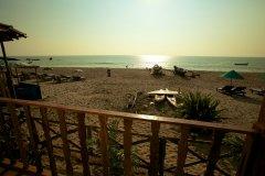 Seafront Resort Patnem Beach Beachfront Huts Balcony View