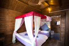 Sea Star Resort Agonda beach Deluxe Garden View Beach Huts Bedroom -