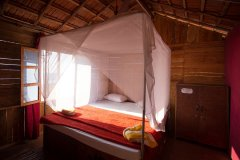 Galaxy Inn Agonda Beach Partial Sea View Beach Huts Bedroom