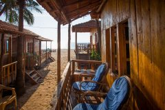 Galaxy Inn Agonda Beach Partial Sea View Beach Huts Balcony View