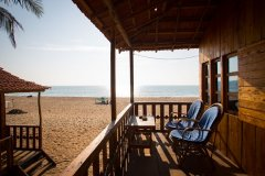 Galaxy Inn Agonda Beach Sea View Beach Huts Balcony View